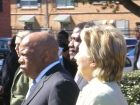 Representative John Lewis and Senator Hilary Clinton