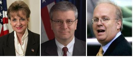Harriet Miers, Josh Bolten, Karl Rove
