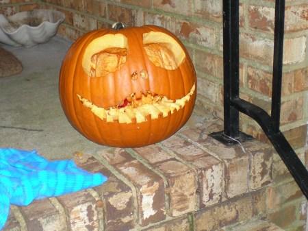 Jack the Pumpkin King carved by Sam